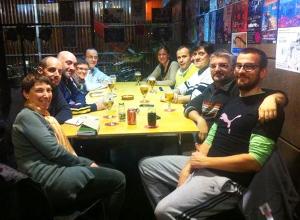 Membres de la cooridnadora Martikoor a una reunió